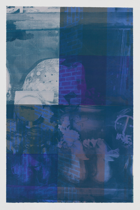 """Title: Blue Hour Year: 2019 Material: Silkscreen printing on paper Size: 40""""Hx28""""W (101cmx71cm)"""