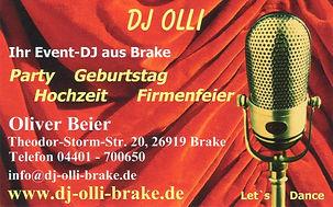 DJ Olli, Visitenkarte, DJ Hochzeit, DJ Geburtstag, DJ gesucht
