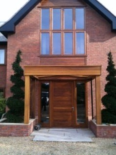 Iroko Entrance Porch