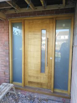 horizontal boarded door