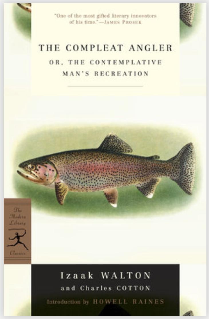 The Complete Angler - Walton