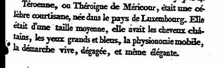 Histoire médicale de Teroenne ou Théroigne de Méricour - revolutionnaire Jacobine