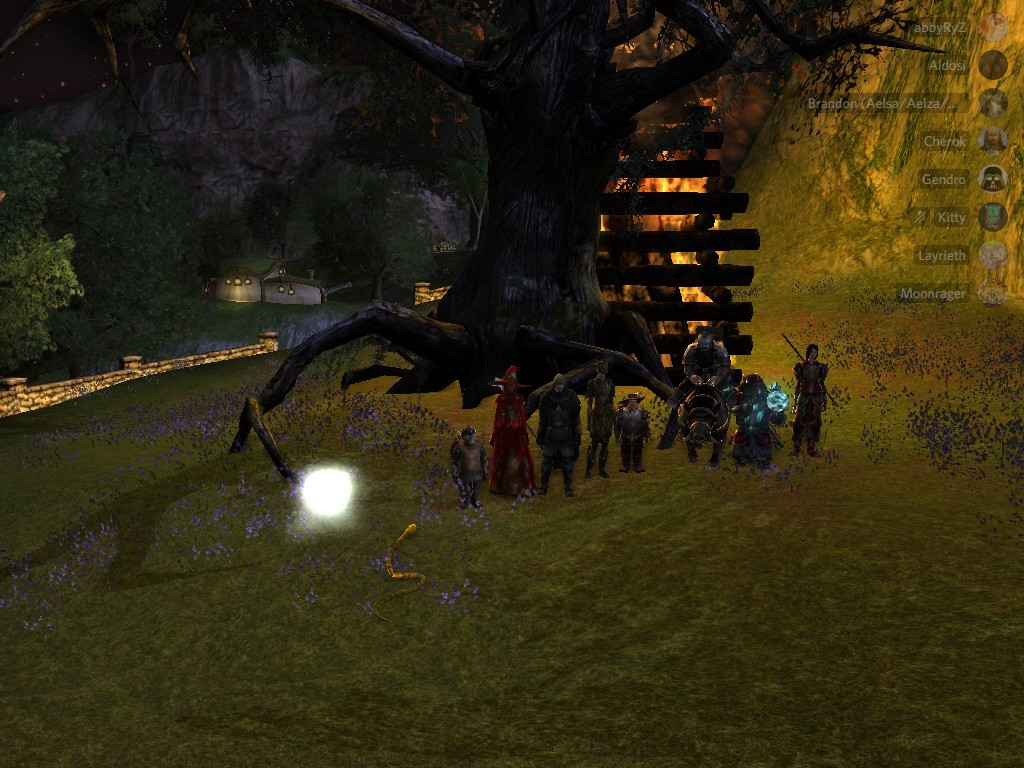 The participants of the night's festivities.  Gendro, Abbygal, Aldowine, Aelsa, Moonrager, Kitty, Cherok, Layrieth