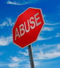 Addiction app, stop abuse sign.