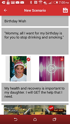 Addiction app birthday
