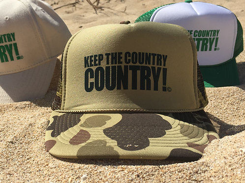 Camo Trucker Hat - Keep the Country Country