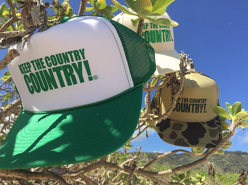 Gr. & White Trucker Hat - Keep the Country Country