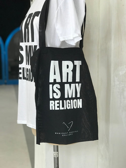 ART IS MY RELIGION - Gallery Tote Bag