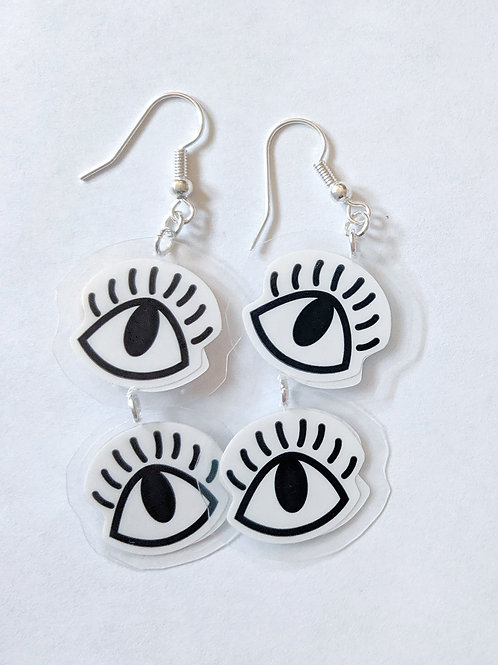 Double Eye Earrings