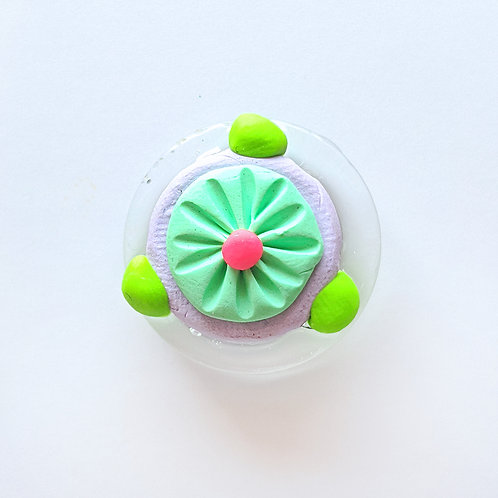Diatom Art Pin