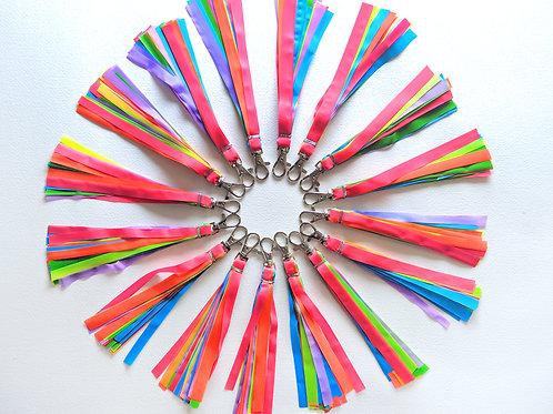Rainbow Tassle Keychain