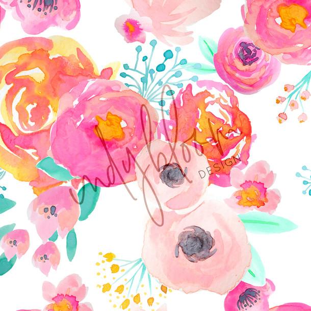 Blush florals White
