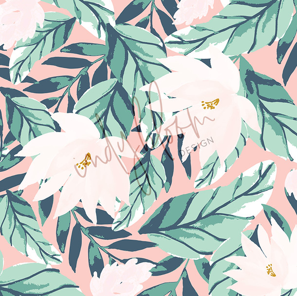 Floral tropic white