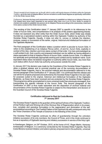 Pág. 2/3 da Carta da Certificação