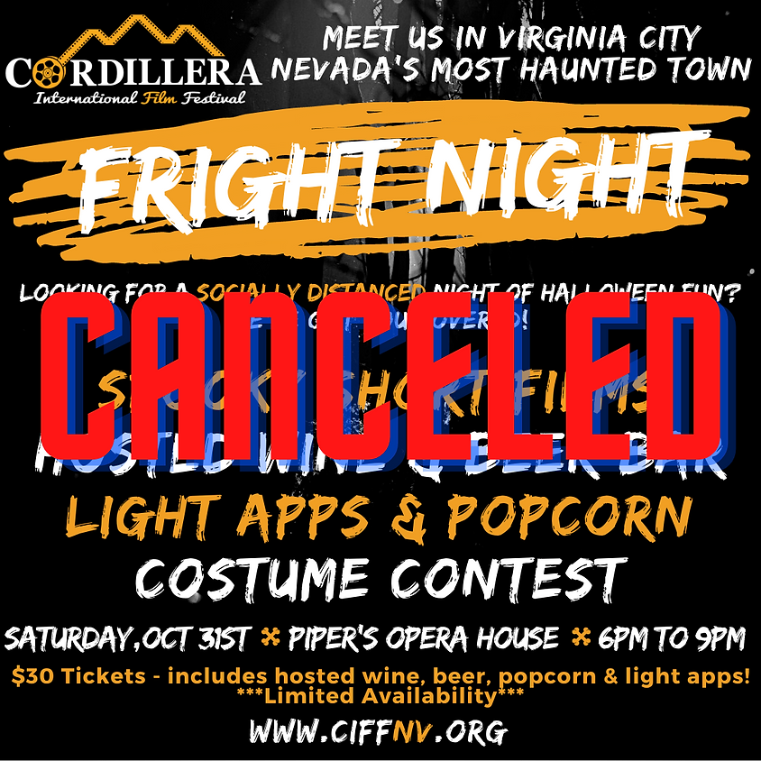 Fright Night - A Scary Night of films with Cordillera in Virginia City!