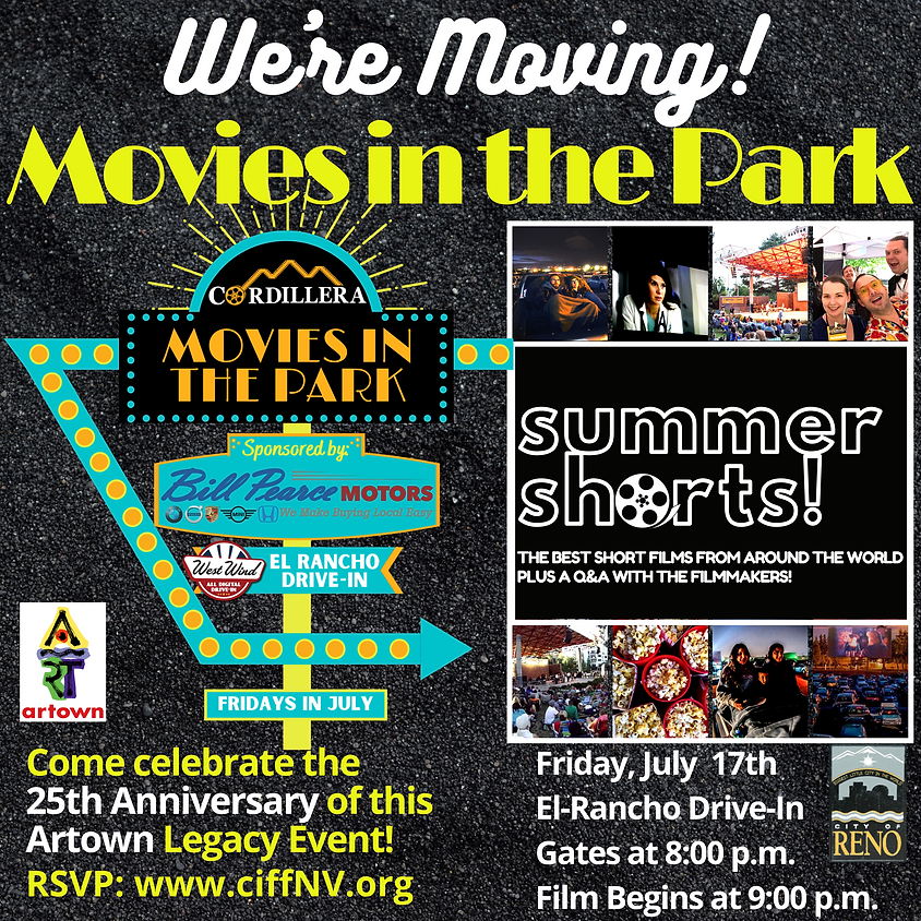 Movies in the Park:  SUMMER SHORTS!