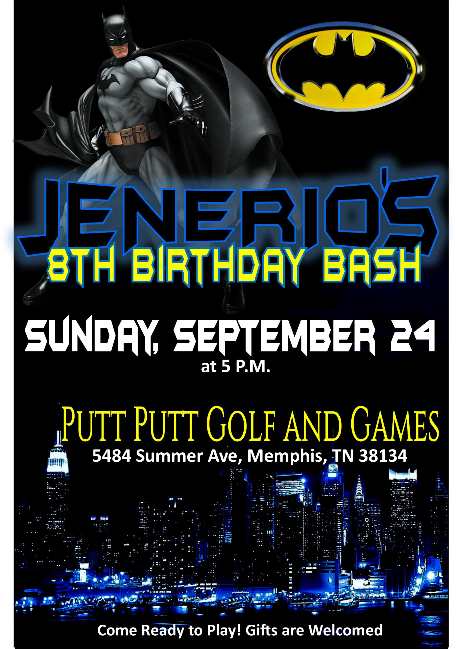Jenerio Birthday Invite PNG
