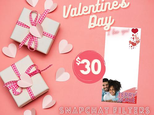 Valentine's Day Snapchat Filter