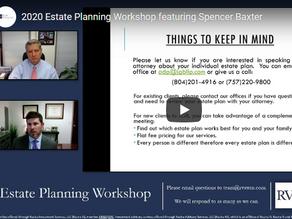2020 Estate Planning Workshop