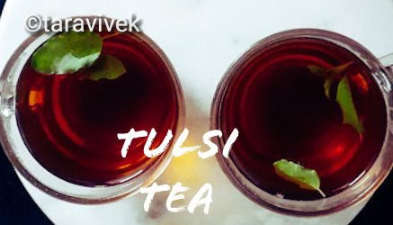 Tulsi / Holy Basil Black Tea : the stress buster tea