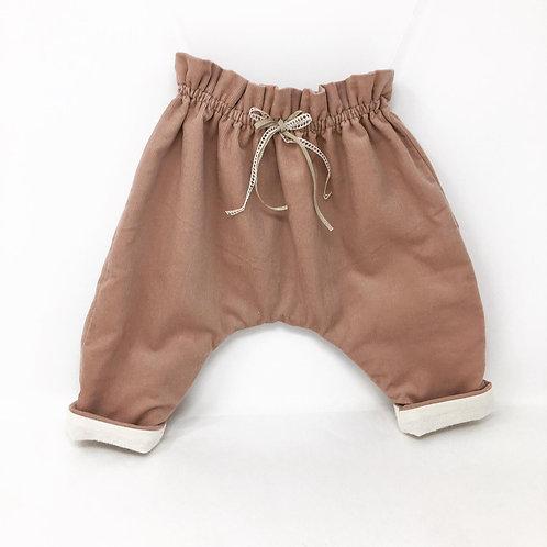 Pantalon Popoche - Velours Rose nude