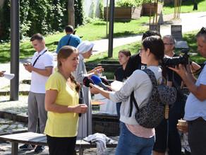 Tlačová konferencia s Kateřinou Šedou o projekte Sobota v nedeľu