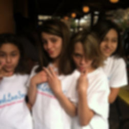 Some of My Smarties at Sea World representing #ThinkLoveSmart Their shirts are a reminder to _Think