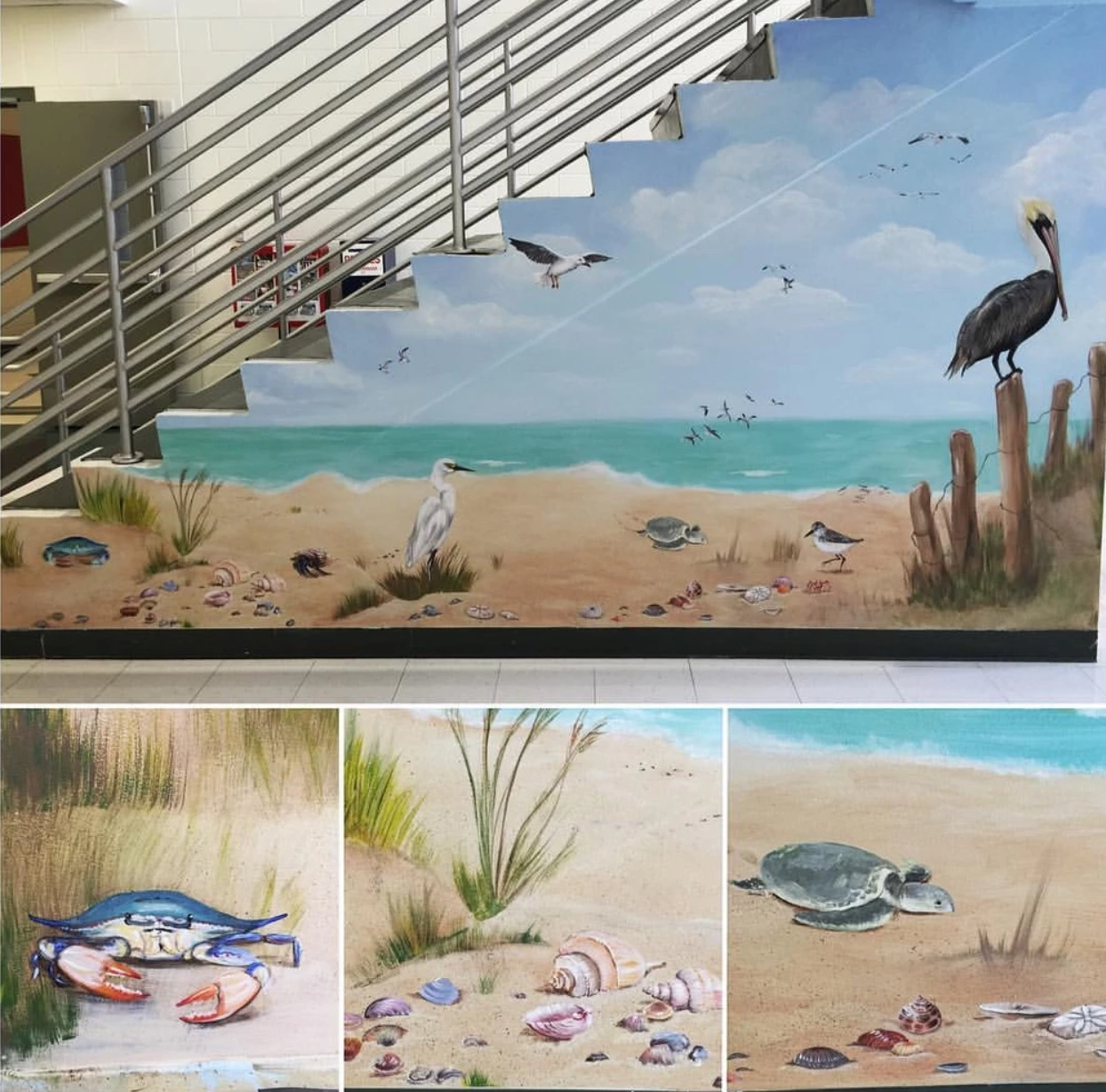 Texas Coast Mural-Canyon Ridge Elementary