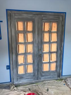 Driftwood doors- Pool Room