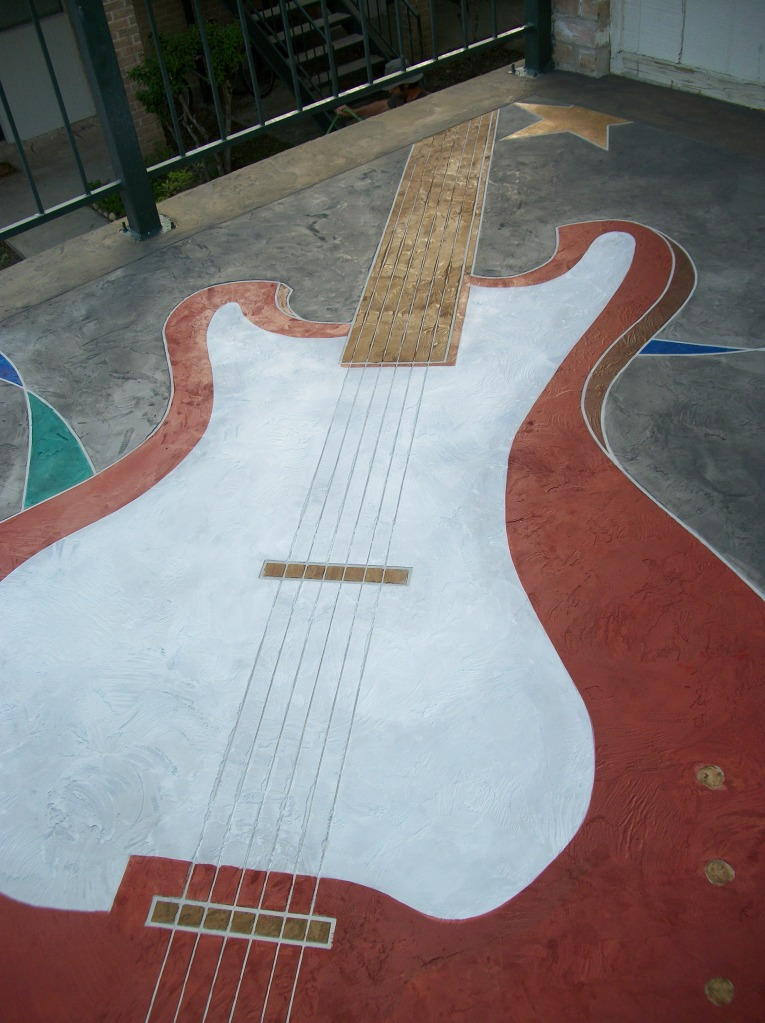 concrete staining_guitar