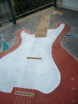 concrete staining_guitar