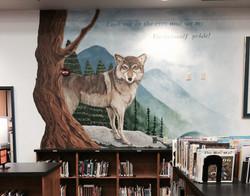 Wolf Mural- Tejeda Library
