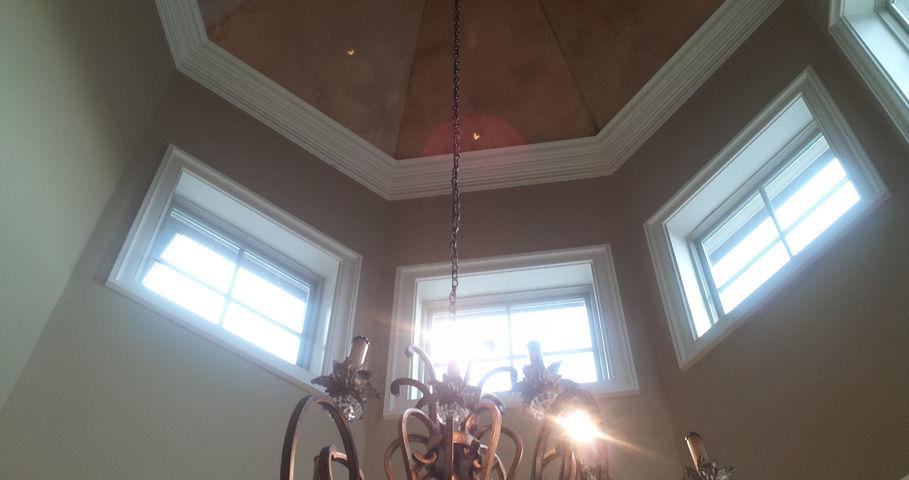 Copper Ceiling Faux