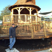 Aaron with Tree House