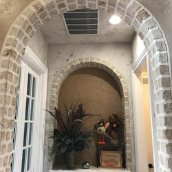 Faux Arches/Brick, Plaster and Silk