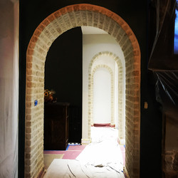 Looking down through the Faux Brick arches!