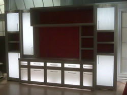 Light up cabinets for HSN