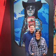 """""""He's about a groover"""" Doug Sahm Mural"""