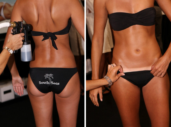 Spray Tanning Before & After
