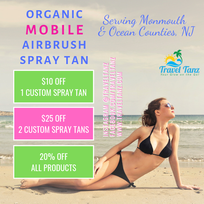 December spray tanning specials in New Jersey