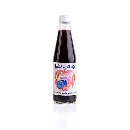 """""""Apple and Friends"""" apple - blueberry juice 0.33L"""