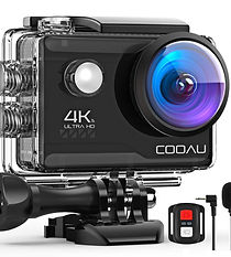 COOAU 4K Action Cam 20MP WiFi Sports Kam