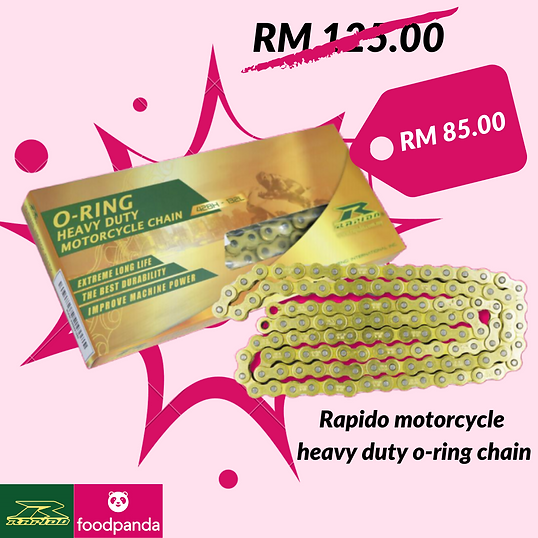Rapido motorcycle heavy duty o-ring chai
