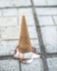 ice-cream-cone-with-melting-scoop-upside