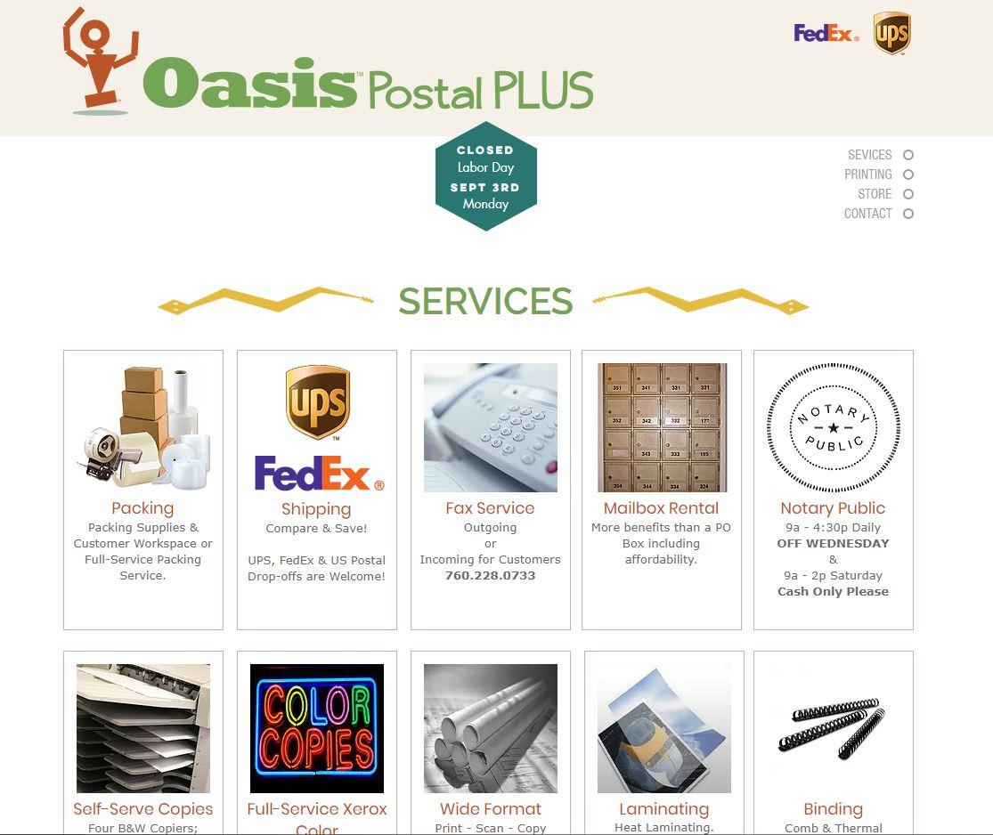 Oasis Postal Plus