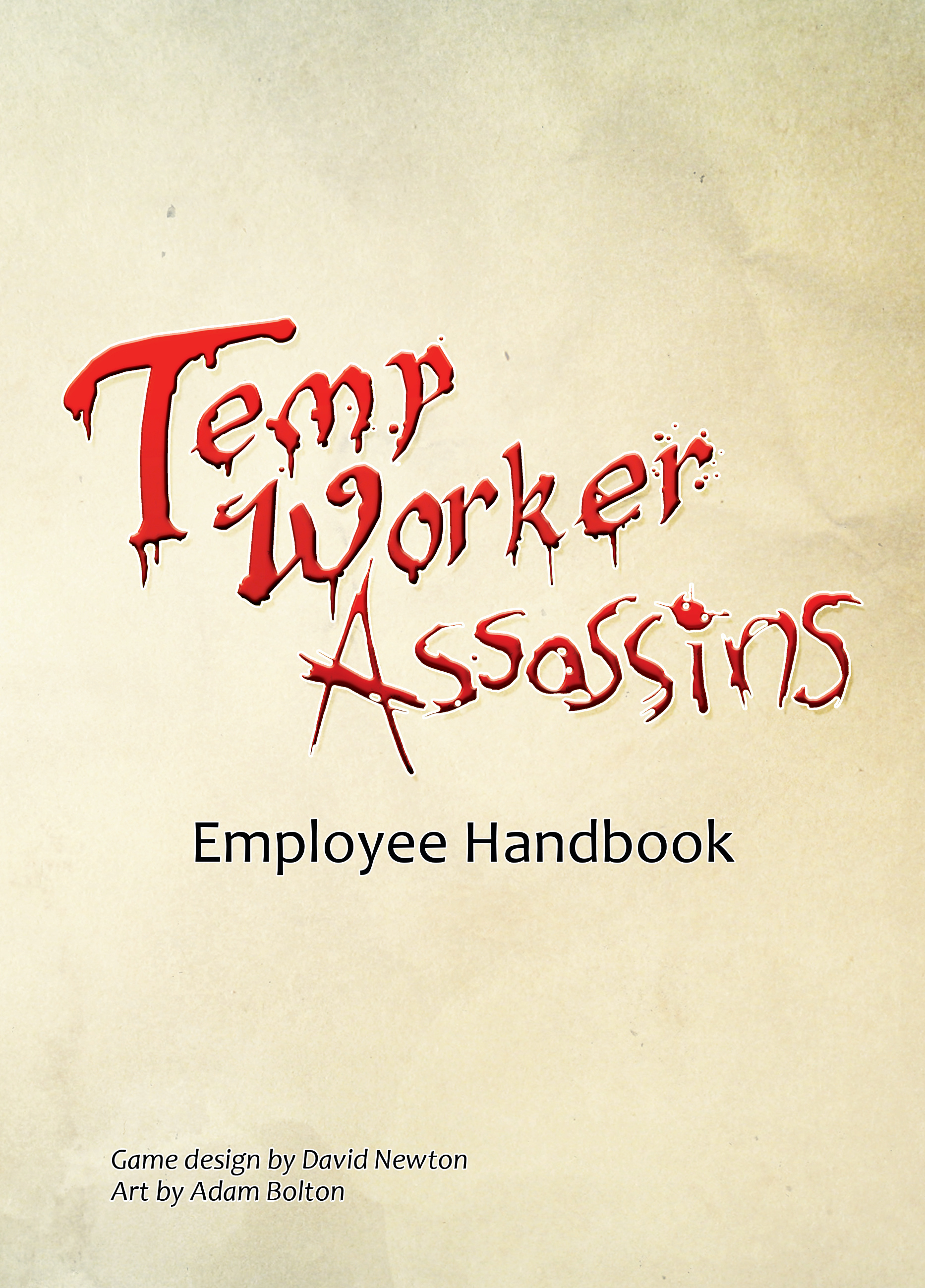 Temp Work Assassins - Front Cover 1