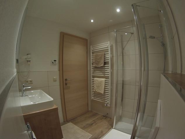 Badezimmer im Haus Bründl