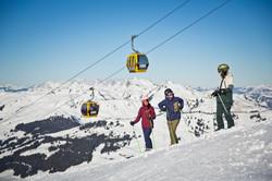 Skifahren im Skicircus Saalbach Hintergl