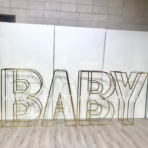 BABY Gold letter