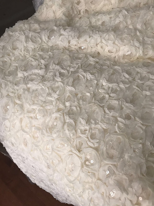 White Rosa Tablecloth